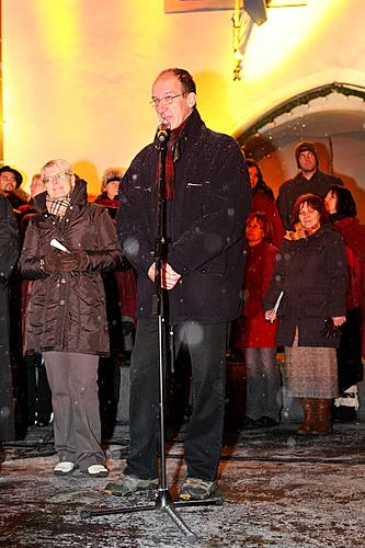 Musical and poetic Advent opening and lighting of the christmas tree, Where: Square Náměstí Svornosti, Český Krumlov, 28.11.2010
