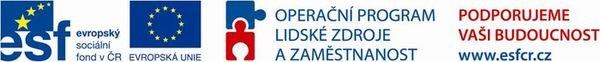 Logo Operační program Lidské zdroje zaměstnanost IOP JČK
