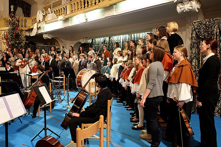 Concert performed by the Artistic Elementary School in Český Krumlov to celebrate the 20th anniversary of entering the town into the UNESCO World Heritage List, 15.12.2012
