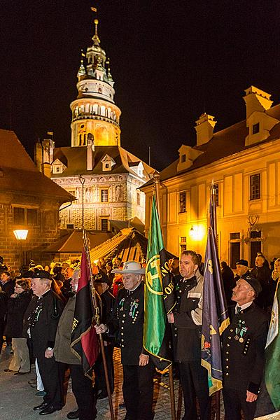 The Light of st. Barbara 4.12.2015, Advent and Christmas 2015 in Český Krumlov