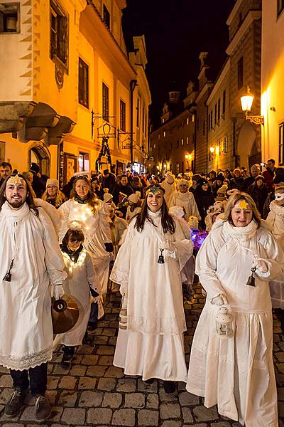 Angelic Procession Through Town Český Krumlov 8.12.2017