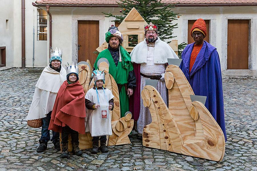 Three Kings, 6.1.2018, Advent and Christmas in Český Krumlov