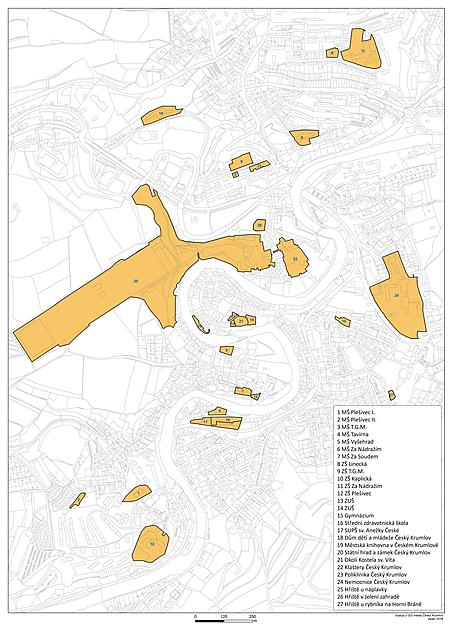 Mapa míst se zákazem pouliční produkce