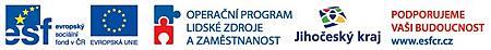 Logo ESF, MŠMT, JčK IP
